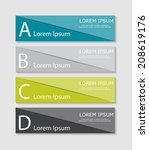 infographic templates for... | Shutterstock .eps vector #208619176