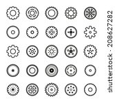 gear icons set | Shutterstock .eps vector #208627282