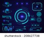 sci fi futuristic user... | Shutterstock .eps vector #208627738