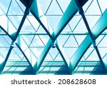 office building detail with... | Shutterstock . vector #208628608