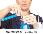 researcher working with tubes... | Shutterstock . vector #2086345