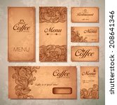 coffee concept design | Shutterstock .eps vector #208641346