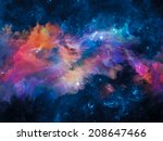 colors in space series. graphic ... | Shutterstock . vector #208647466
