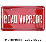 Road Warrior Words On Red...