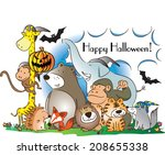 happy halloween | Shutterstock . vector #208655338