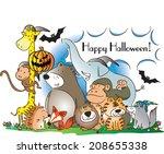 happy halloween | Shutterstock . vector #208655338