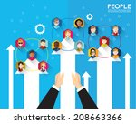 people icon conceptual vector...   Shutterstock .eps vector #208663366