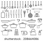 big set of vector isolated... | Shutterstock .eps vector #208664086