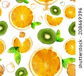 Fruit Seamless Pattern Of...