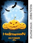 grungy background for halloween ... | Shutterstock .eps vector #208670356