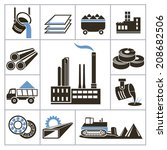 heavy industry icons. for you... | Shutterstock .eps vector #208682506