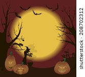 illustration of halloween.... | Shutterstock . vector #208702312