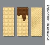 wafers textures. vector... | Shutterstock .eps vector #208709035
