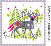 christmas reindeer   Shutterstock .eps vector #20871001