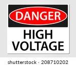 Danger High Voltage Sign Vecto...