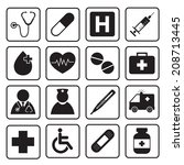 medical icons | Shutterstock .eps vector #208713445