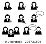 business communication and... | Shutterstock .eps vector #208721506