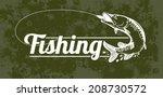 fishing vector labels  | Shutterstock .eps vector #208730572
