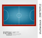futsal court - Vector illustration
