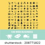 100 web business  internet... | Shutterstock .eps vector #208771822