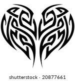 vector stylized tattoo tribal... | Shutterstock .eps vector #20877661