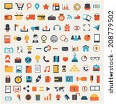large set of social media icons | Shutterstock .eps vector #208779502