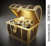 treasure chest full of... | Shutterstock . vector #208780186
