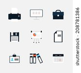 modern  icons vector collection ...   Shutterstock .eps vector #208781386