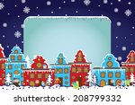 santa claus sleigh with... | Shutterstock .eps vector #208799332