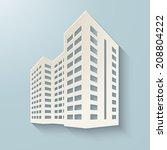 building icon. vector... | Shutterstock .eps vector #208804222