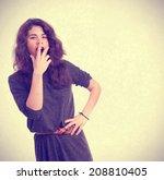tired girl | Shutterstock . vector #208810405