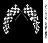 two crossed checkered flags... | Shutterstock . vector #208814692