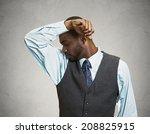 closeup portrait young man ... | Shutterstock . vector #208825915