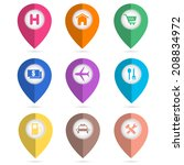 map navigation icons   Shutterstock .eps vector #208834972