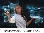 female medical doctor working... | Shutterstock . vector #208844728
