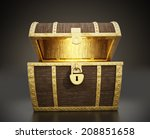 glowing treasure chest full of... | Shutterstock . vector #208851658