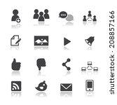 social network icons   Shutterstock .eps vector #208857166