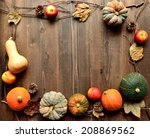 Colorful Pumpkins Apples And...