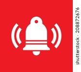 ringing bell silhouette in... | Shutterstock .eps vector #208872676