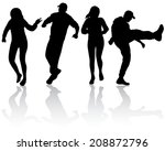 people silhouettes | Shutterstock .eps vector #208872796