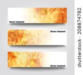 set of banner templates with... | Shutterstock .eps vector #208874782