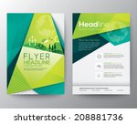 Abstract Triangle Brochure Flyer design vector template in A4 size | Shutterstock vector #208881736