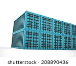 blue containers concept... | Shutterstock . vector #208890436