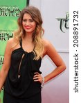 Small photo of LOS ANGELES - AUG 3: Moxie Raia at the Teenage Mutant Ninja Turtles Premiere at the Village Theater on August 3, 2014 in Westwood, CA