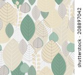 autumn seamless pattern | Shutterstock .eps vector #208897042