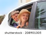 off to the beach    portrait of ... | Shutterstock . vector #208901305
