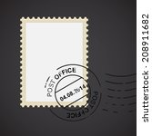 post mark with stamp for your... | Shutterstock .eps vector #208911682