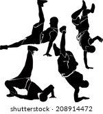 collection breakdance break... | Shutterstock . vector #208914472