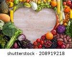 heart shaped food   food... | Shutterstock . vector #208919218