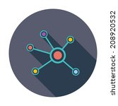 social network. single flat... | Shutterstock .eps vector #208920532